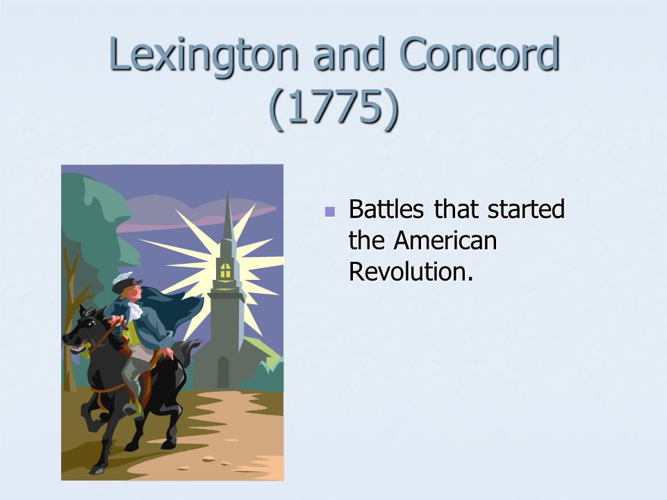 Lexington and Concord (1775)
