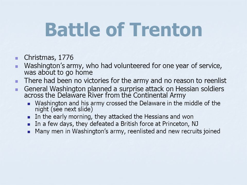 Battle of Trenton Christmas, 1776