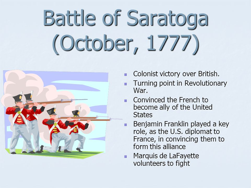 Battle of Saratoga (October, 1777)