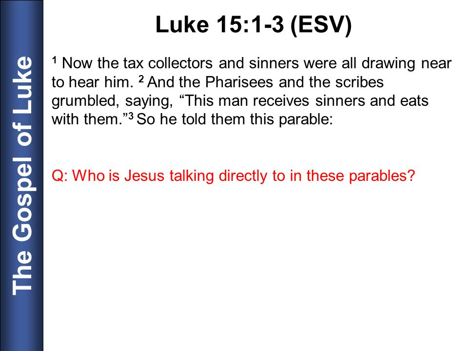 Luke 15:1-3 (ESV)