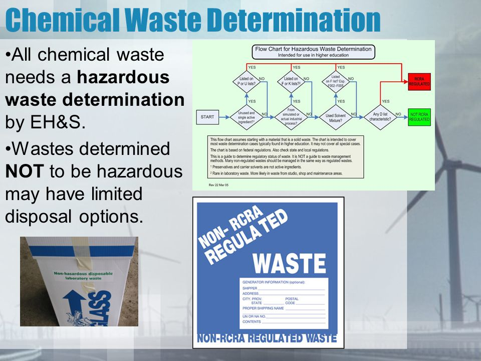 Chemical Waste Determination
