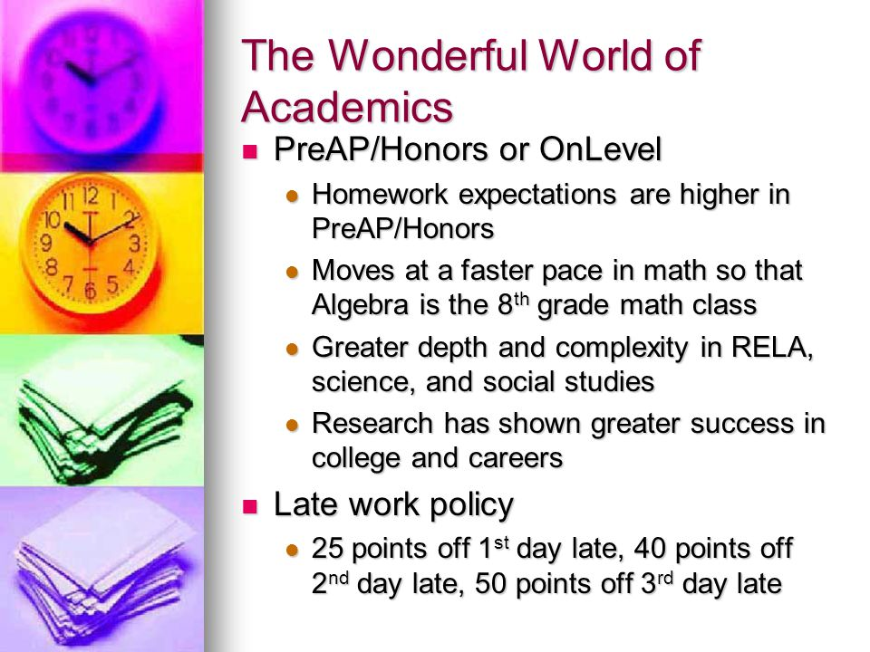 The Wonderful World of Academics