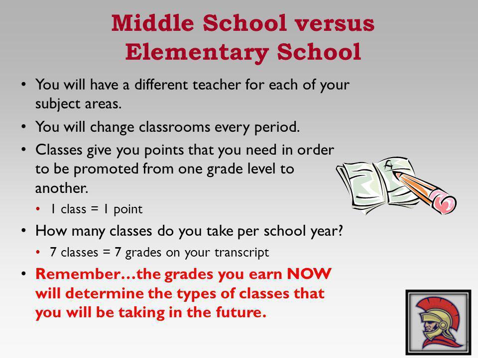 Middle School versus Elementary School