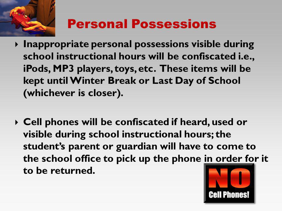 Personal Possessions