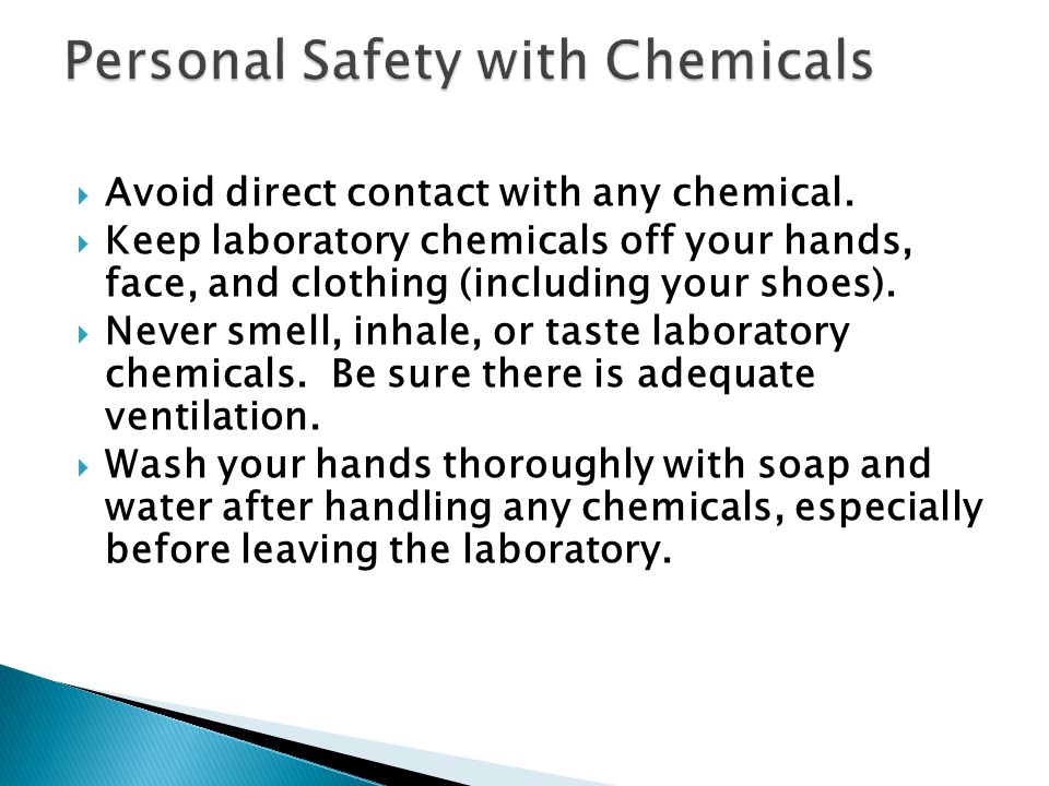 Personal Safety with Chemicals