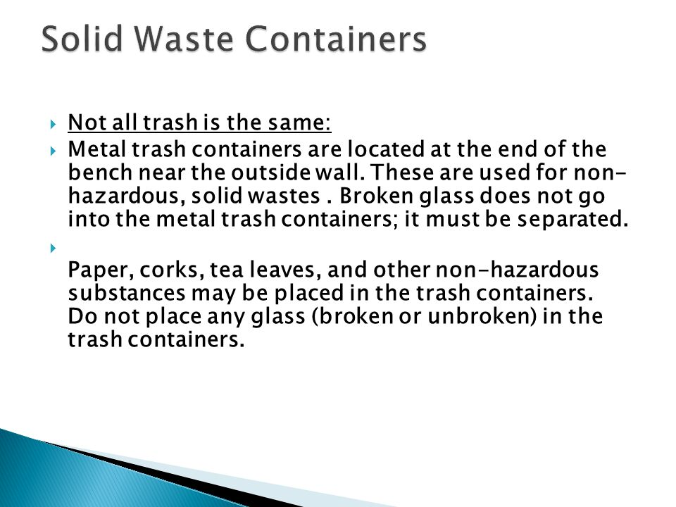 Solid Waste Containers