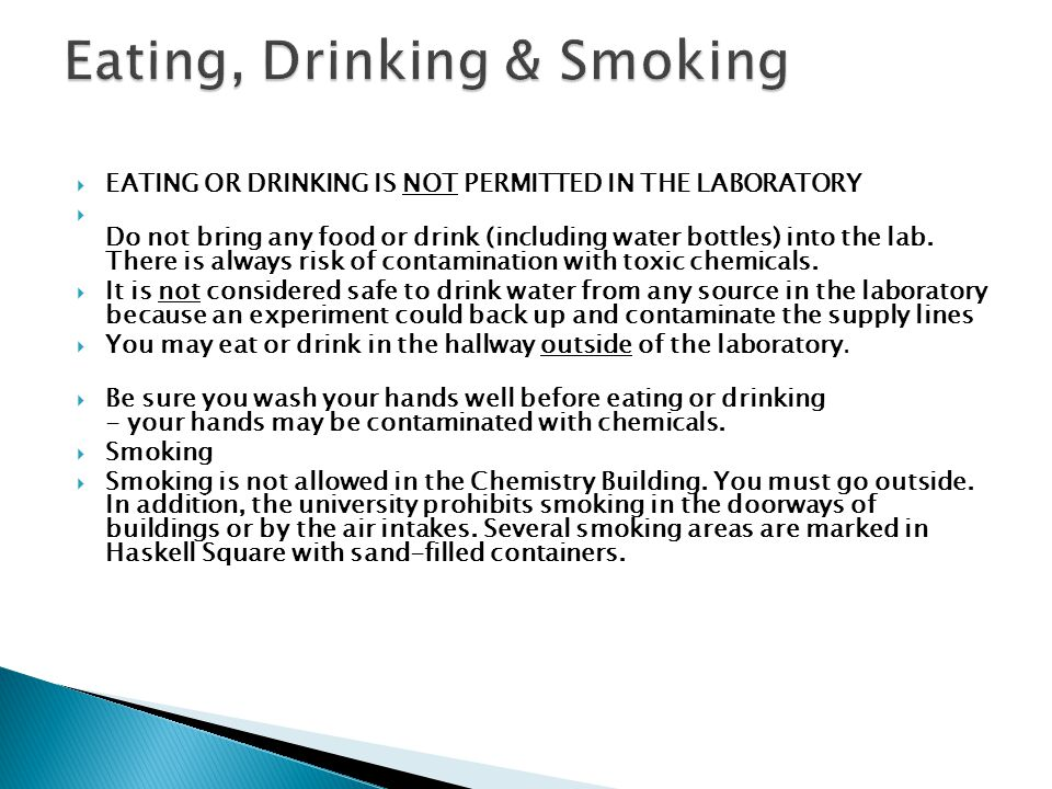 Eating, Drinking & Smoking