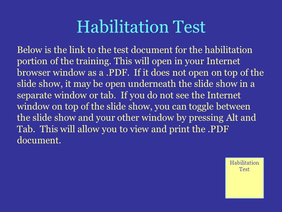 Habilitation Test