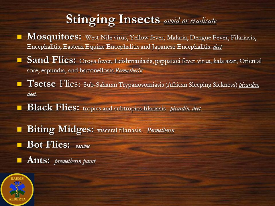 Stinging Insects avoid or eradicate