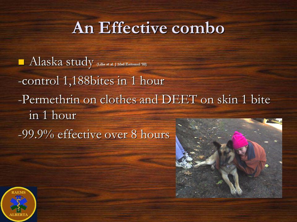 An Effective combo Alaska study (Lillie et al. J Med Entomol '88)