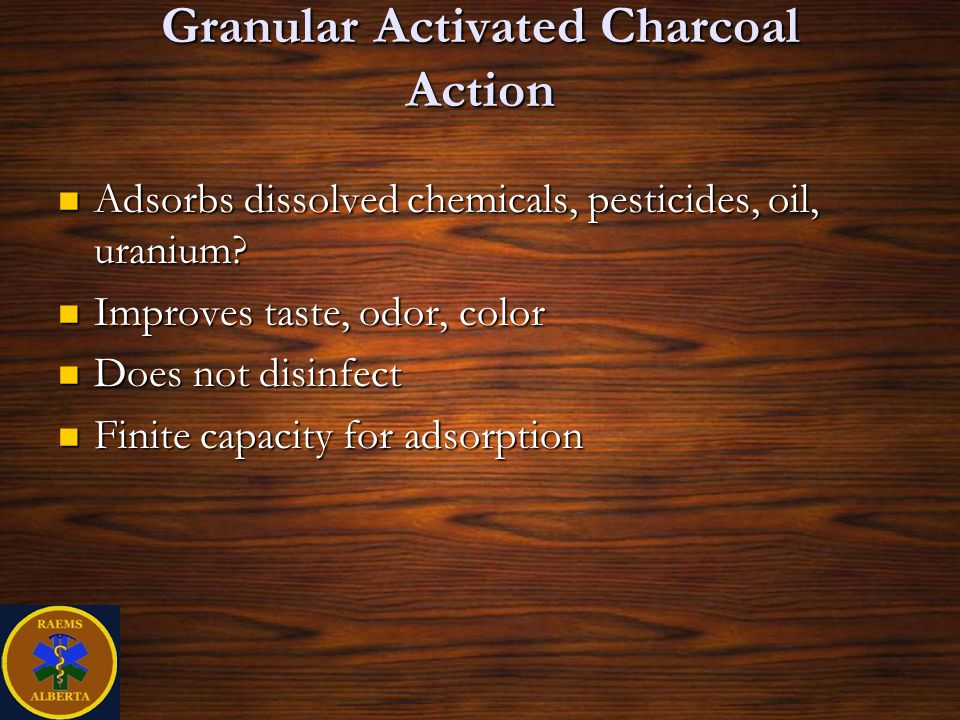 Granular Activated Charcoal Action