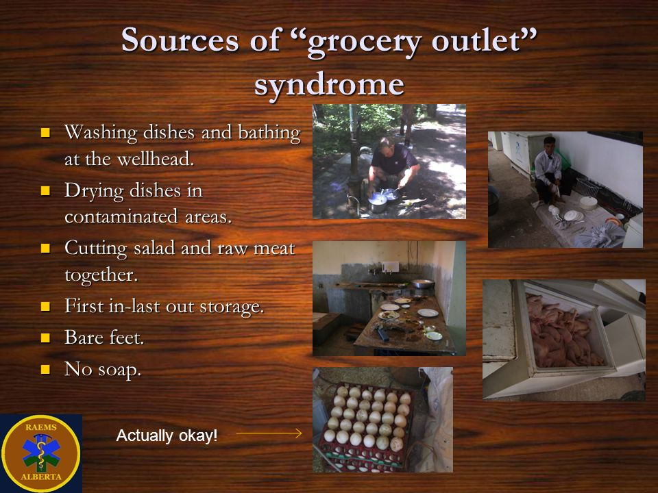 Sources of grocery outlet syndrome