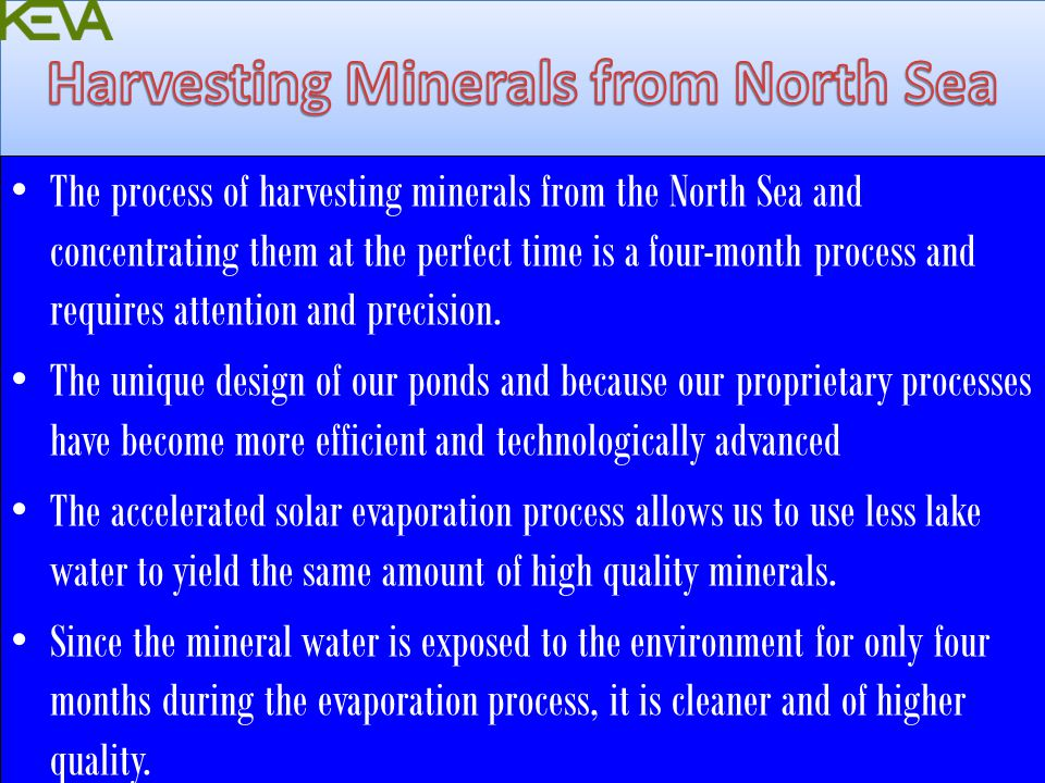 Harvesting Minerals from North Sea