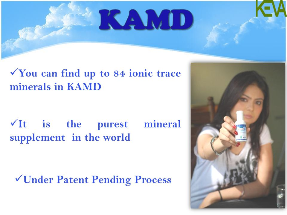 KAMD You can find up to 84 ionic trace minerals in KAMD