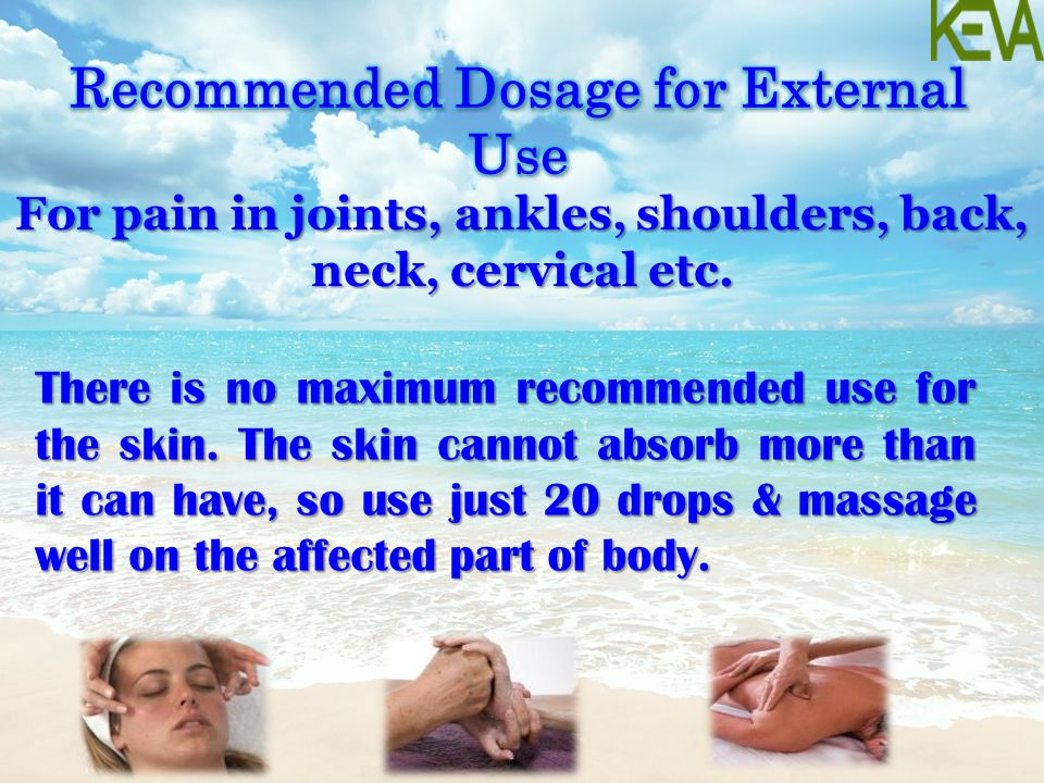 Recommended Dosage for External Use