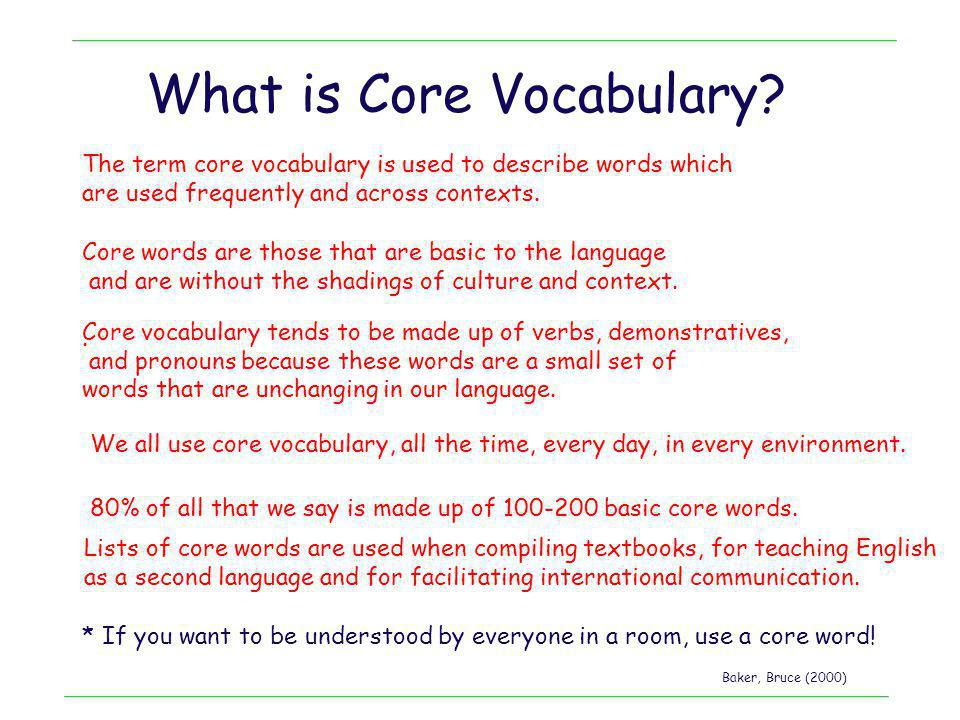 What is Core Vocabulary