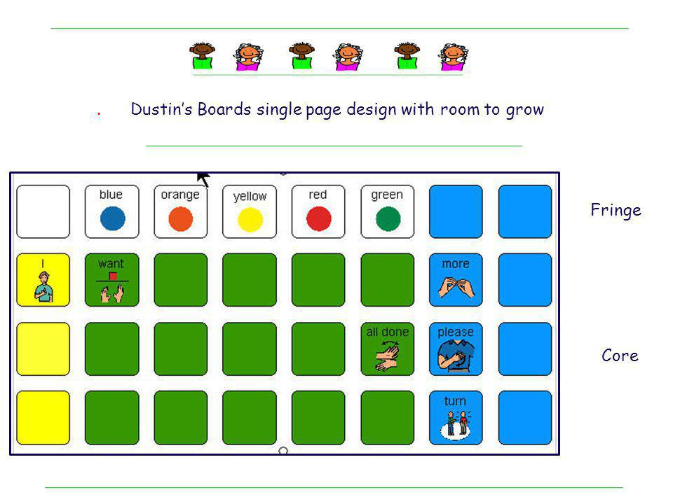 . Dustin's Boards single page design with room to grow Fringe Core