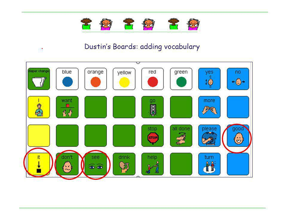 . Dustin's Boards: adding vocabulary