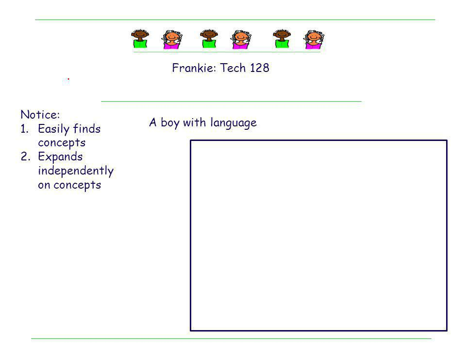 Frankie: Tech 128 . Notice: Easily finds concepts.