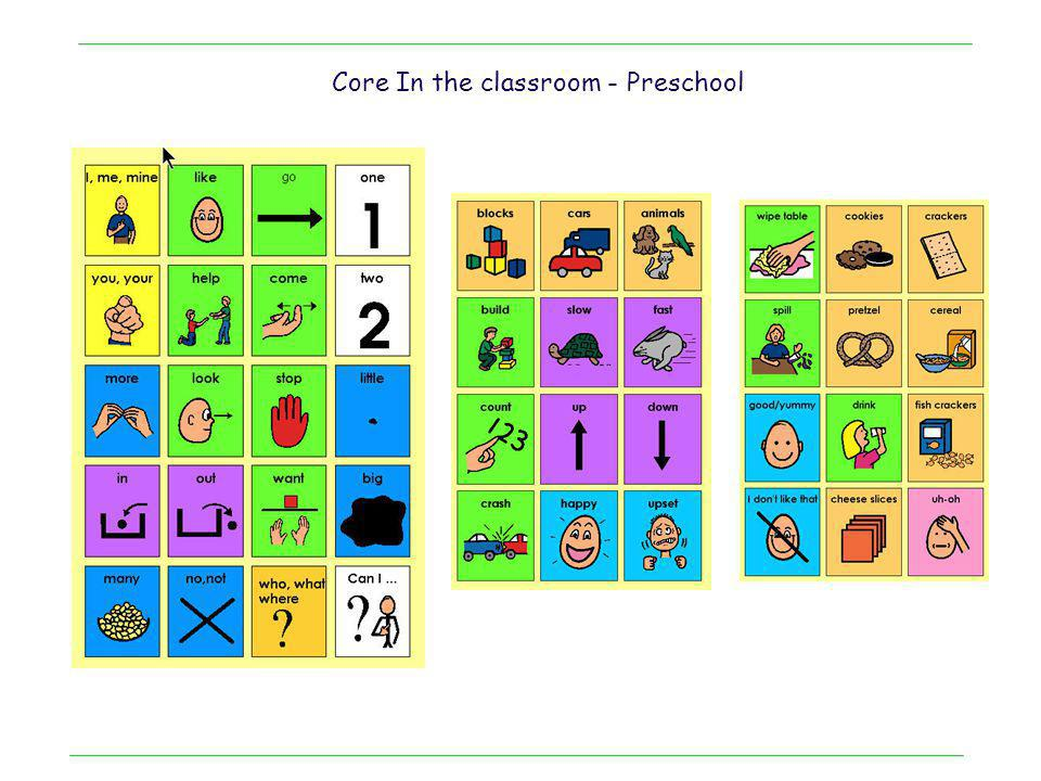 Core In the classroom - Preschool