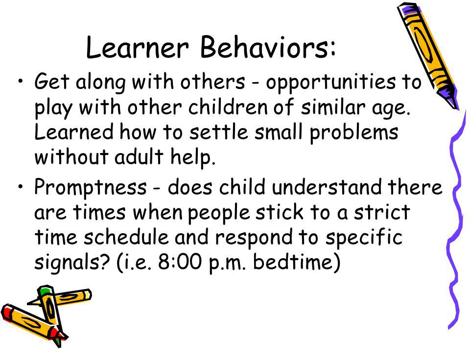Learner Behaviors: