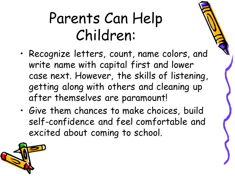 Parents Can Help Children: