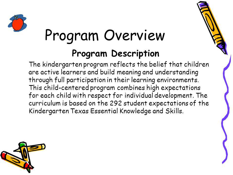 Program Overview Program Description