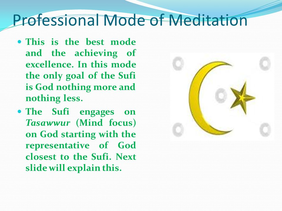 Professional Mode of Meditation
