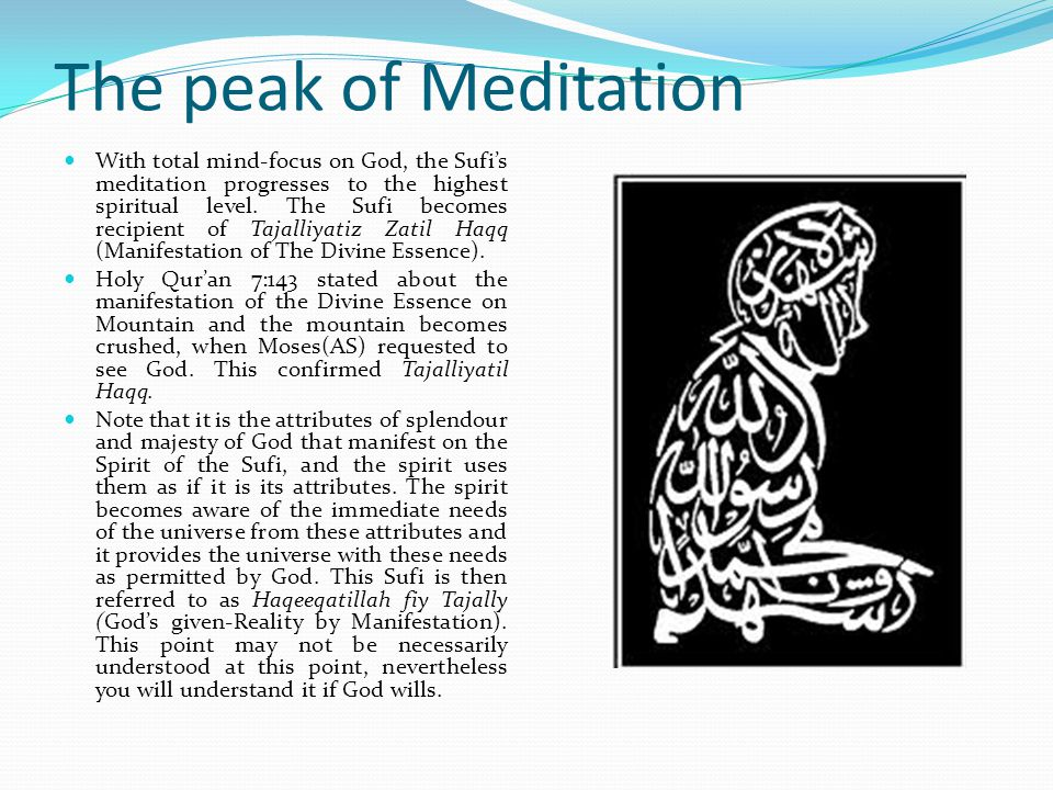 The peak of Meditation