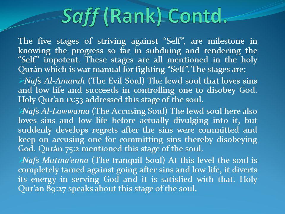 Saff (Rank) Contd.
