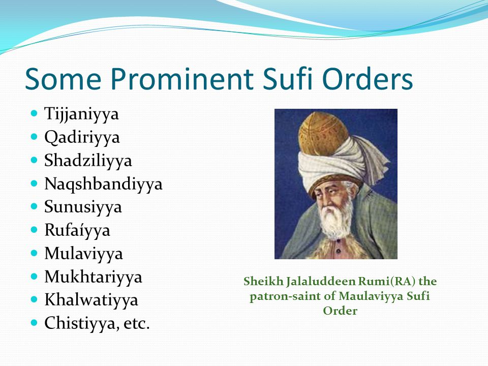 Some Prominent Sufi Orders