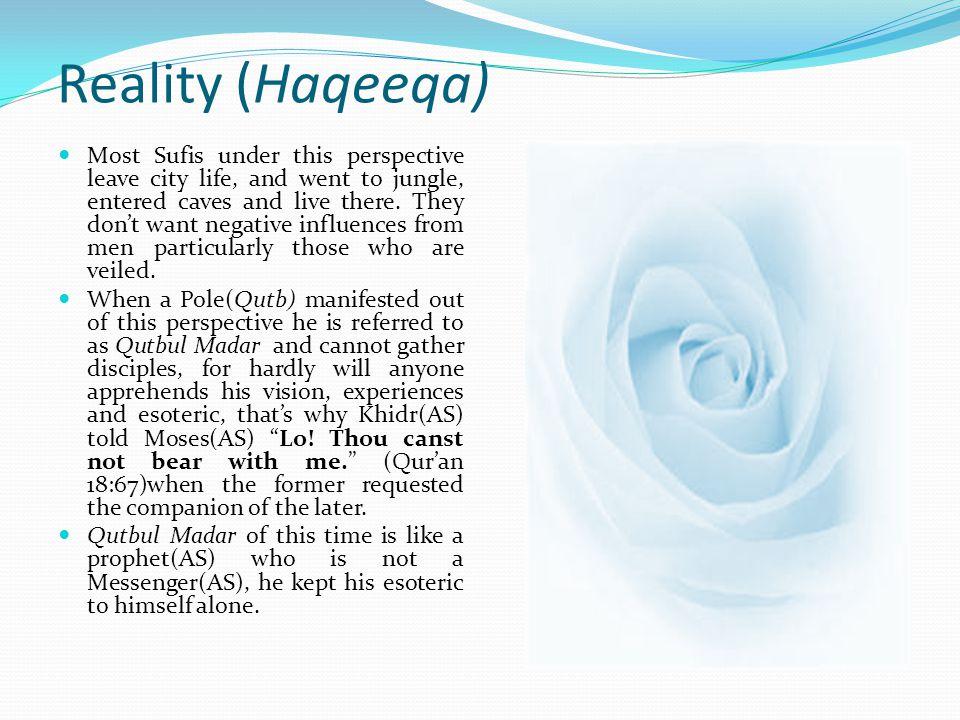 لاله الاالله Reality (Haqeeqa)