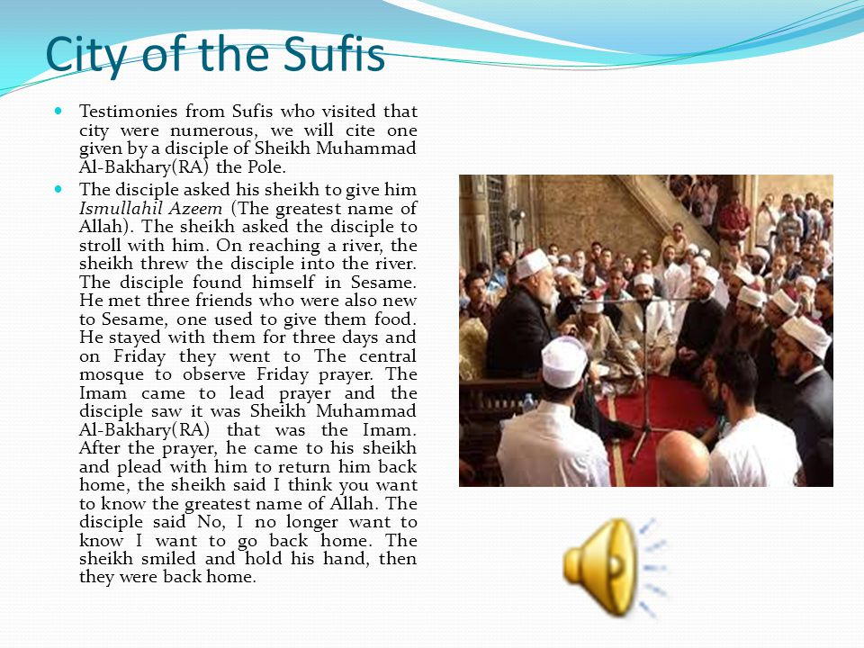 City of the Sufis