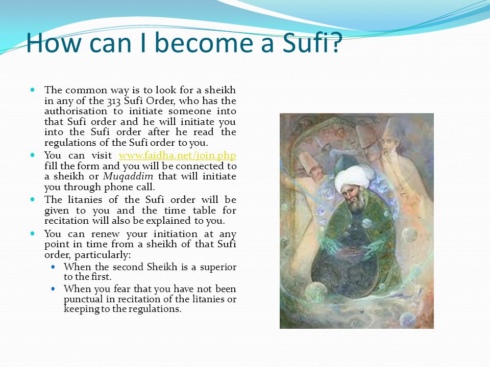 How can I become a Sufi
