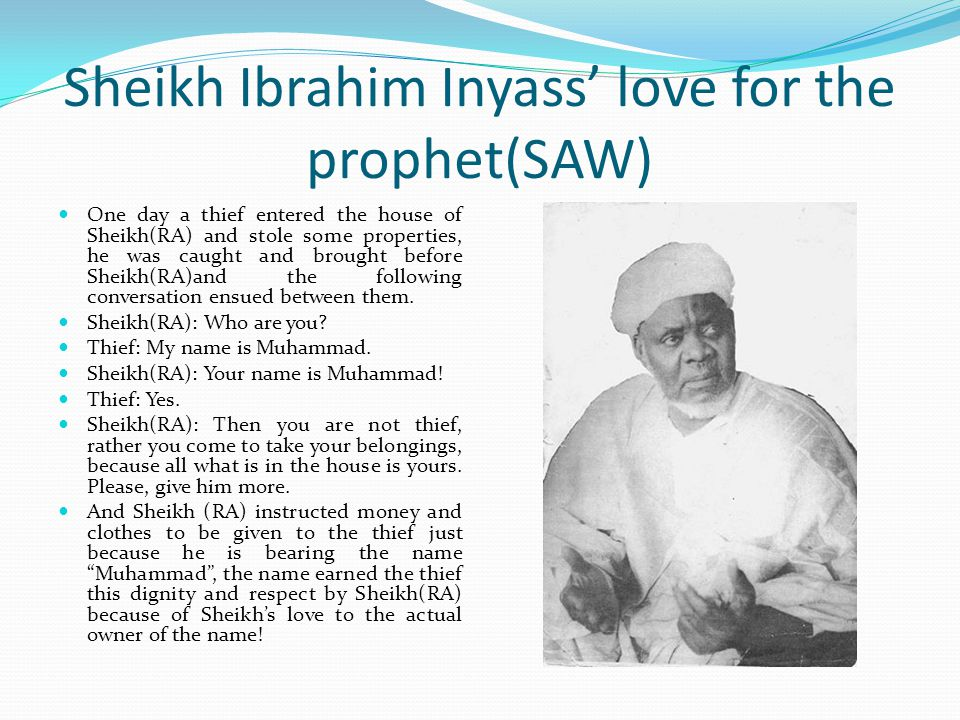 Sheikh Ibrahim Inyass' love for the prophet(SAW)