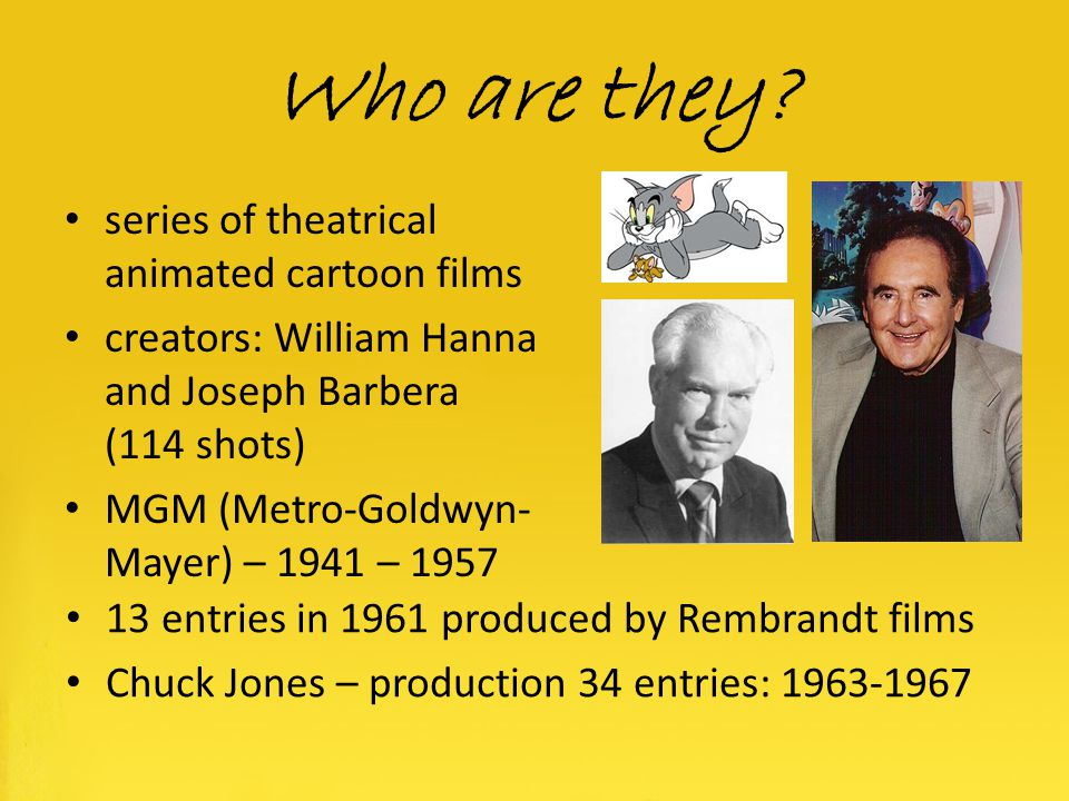 Who are they series of theatrical animated cartoon films