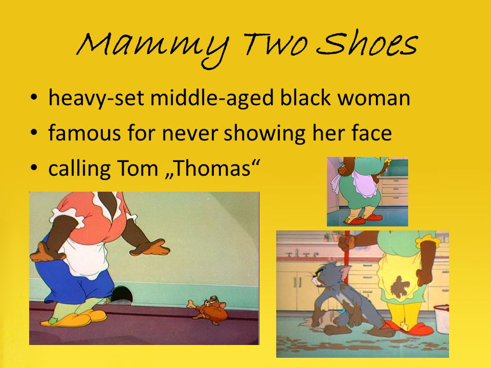 Mammy Two Shoes heavy-set middle-aged black woman
