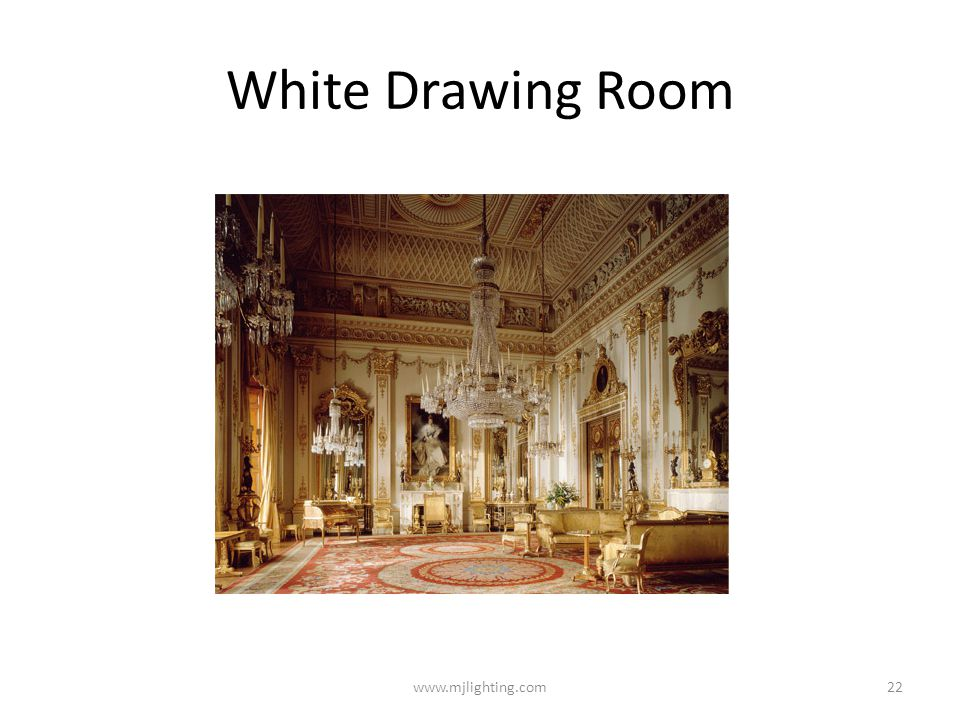 White Drawing Room www.mjlighting.com