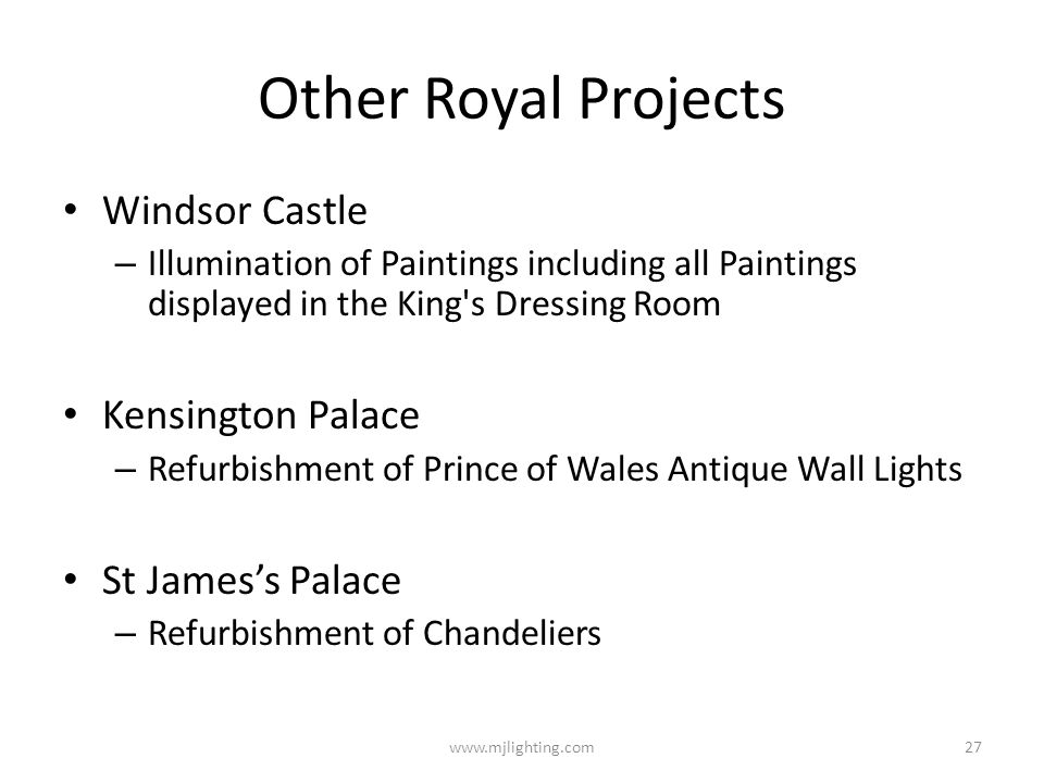 Other Royal Projects Windsor Castle Kensington Palace