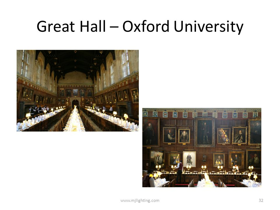 Great Hall – Oxford University