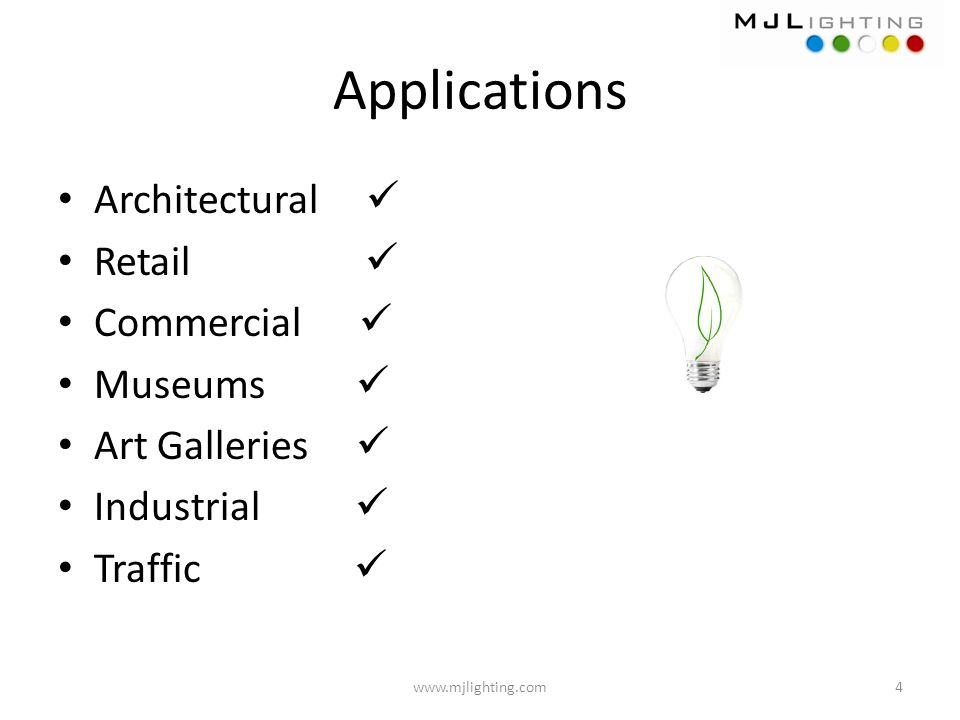 Applications Architectural  Retail  Commercial  Museums 