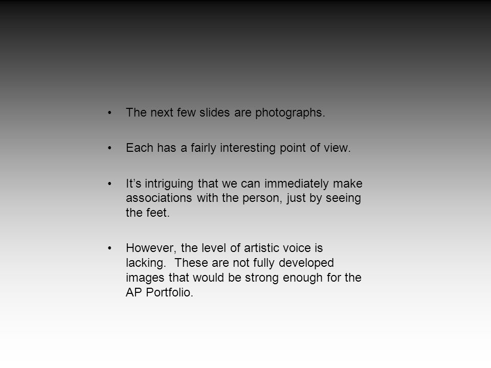 The next few slides are photographs.