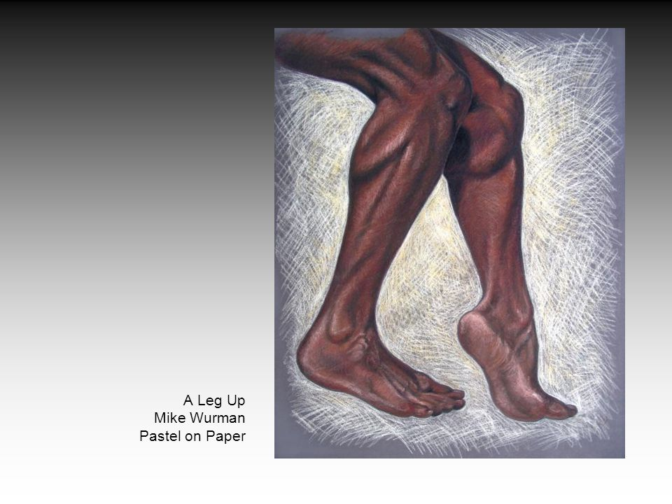 A Leg Up Mike Wurman Pastel on Paper
