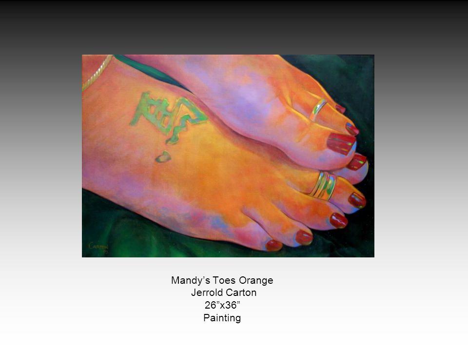 Mandy's Toes Orange Jerrold Carton 26 x36 Painting