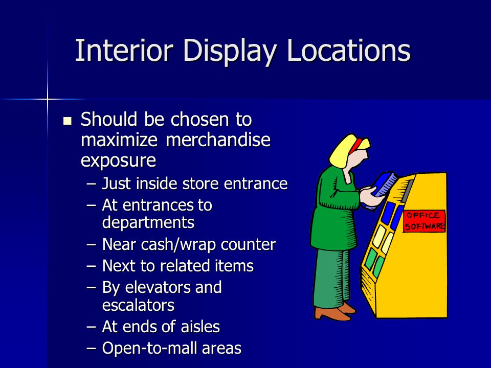 Interior Display Locations