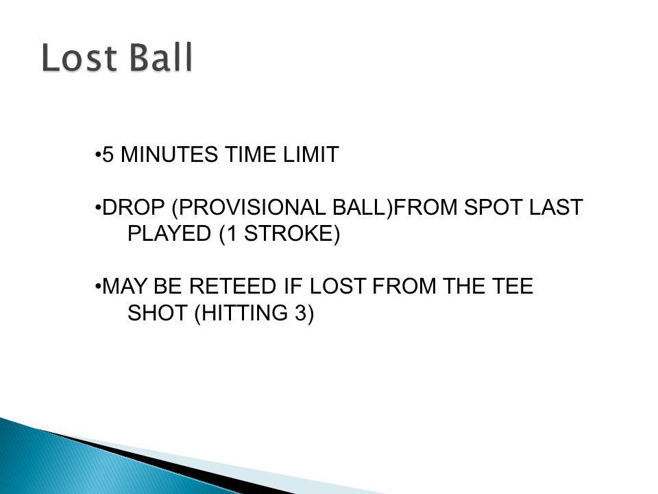 Lost Ball 5 MINUTES TIME LIMIT