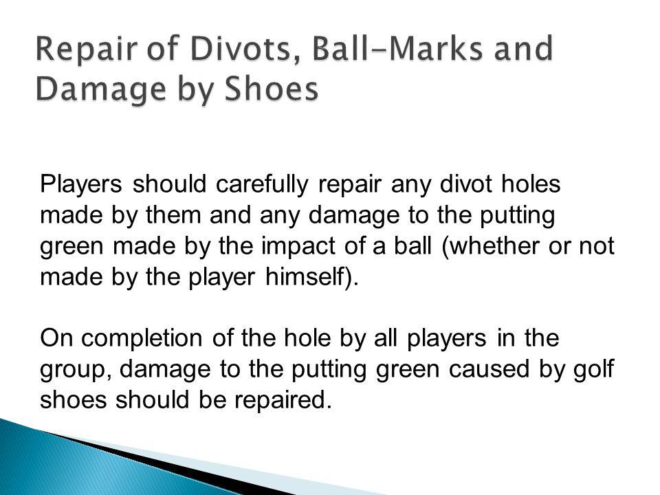 Repair of Divots, Ball-Marks and Damage by Shoes