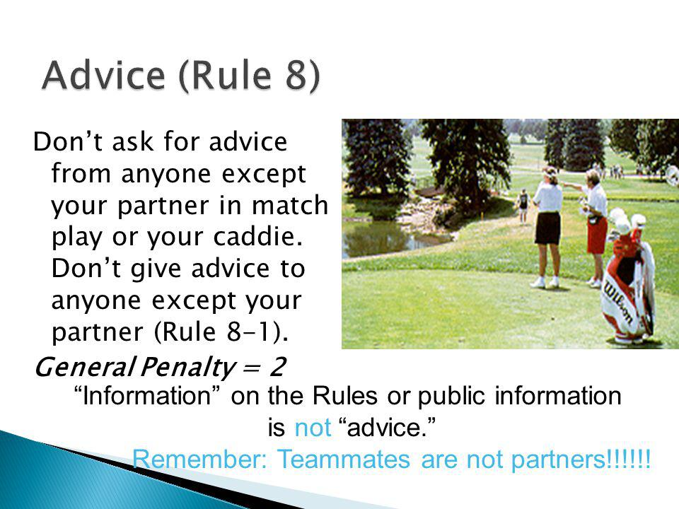 Information on the Rules or public information