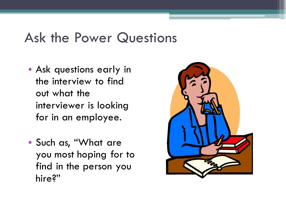 Ask the Power Questions