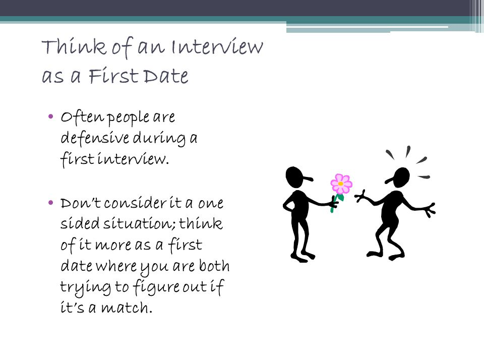 Think of an Interview as a First Date